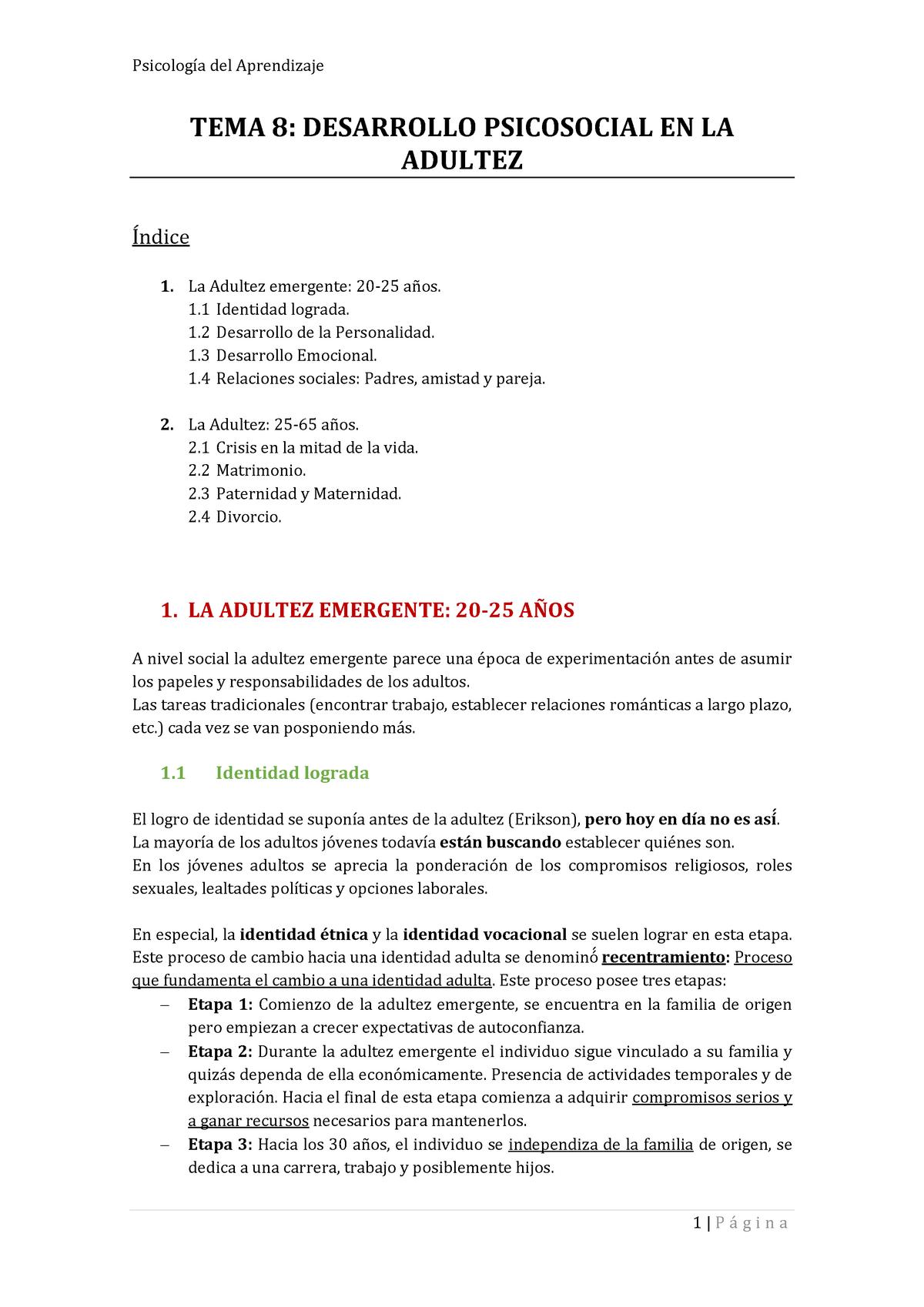 Tema 8 Grado En Psicología Comillas Studocu