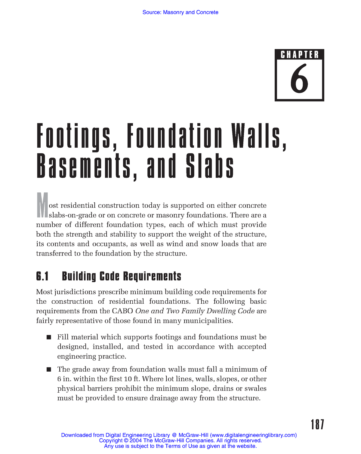 Ch6-Footings & Foundation Walls - Civil Engineering CE - StuDocu