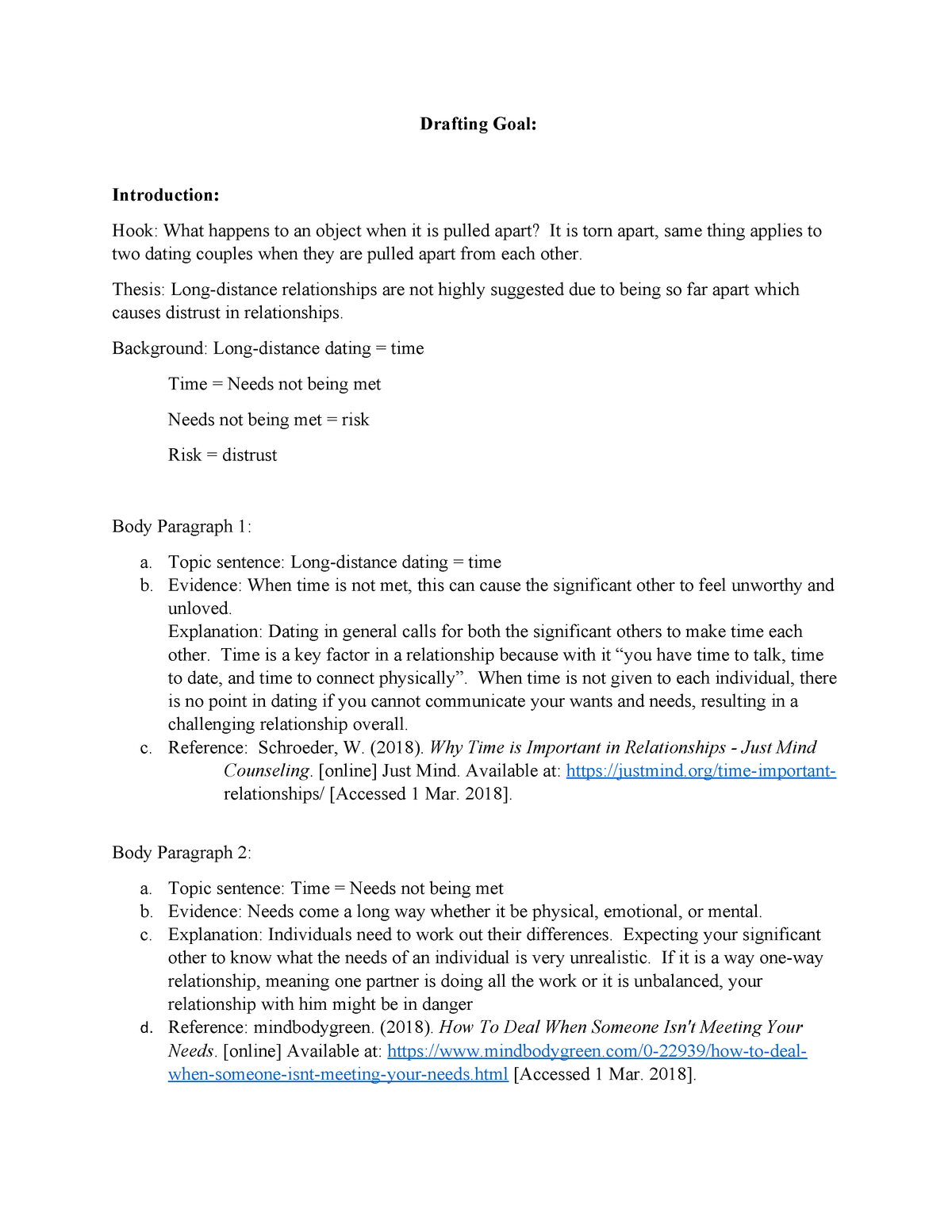 Causal drafting - essay - ENG-106 English Composition II