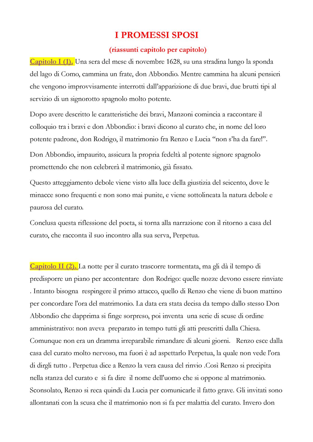 Riassunto-Promessi-Sposi - 10/10/10 - StuDocu