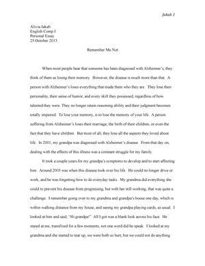Grandpas illness essay
