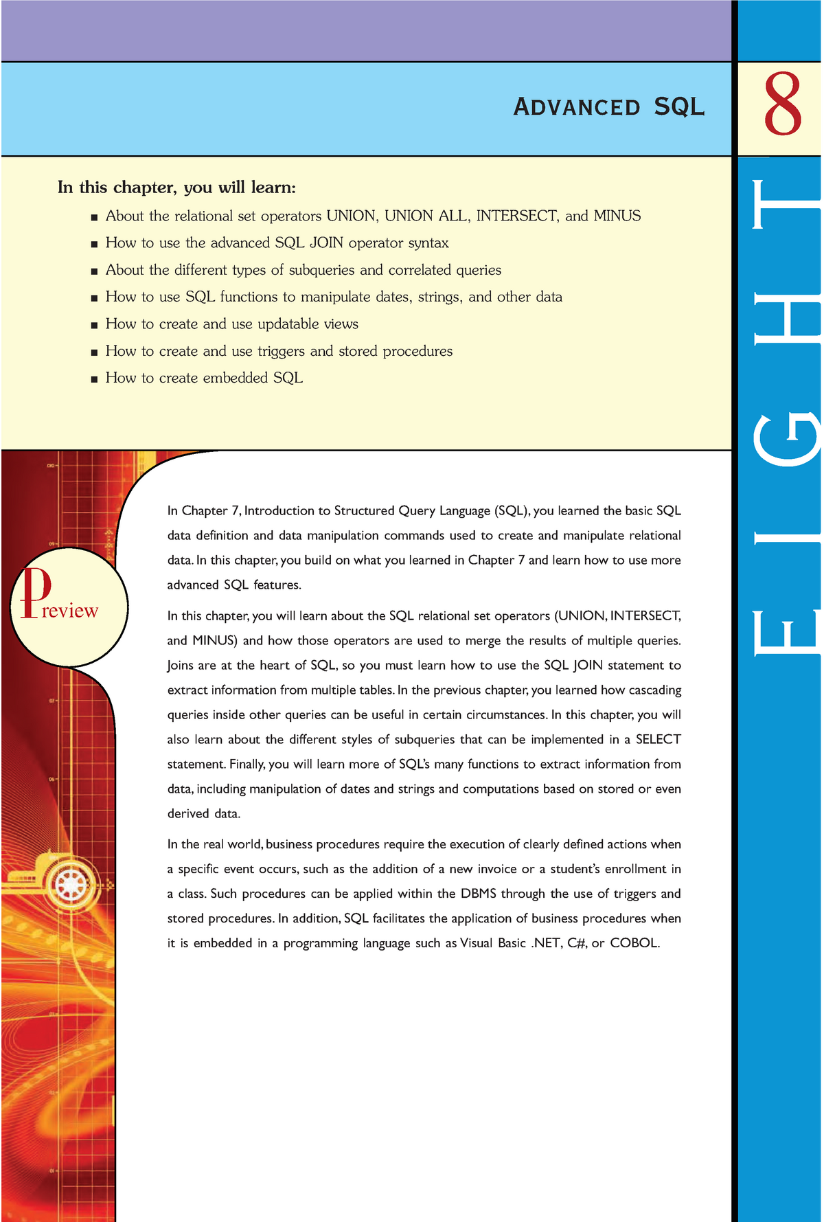 Chapter 08 Advanced SQL - INFS2608 - UNSW - StuDocu