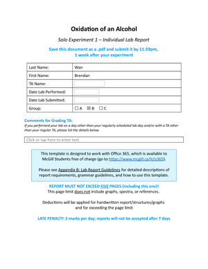 alcohol experiment lab report