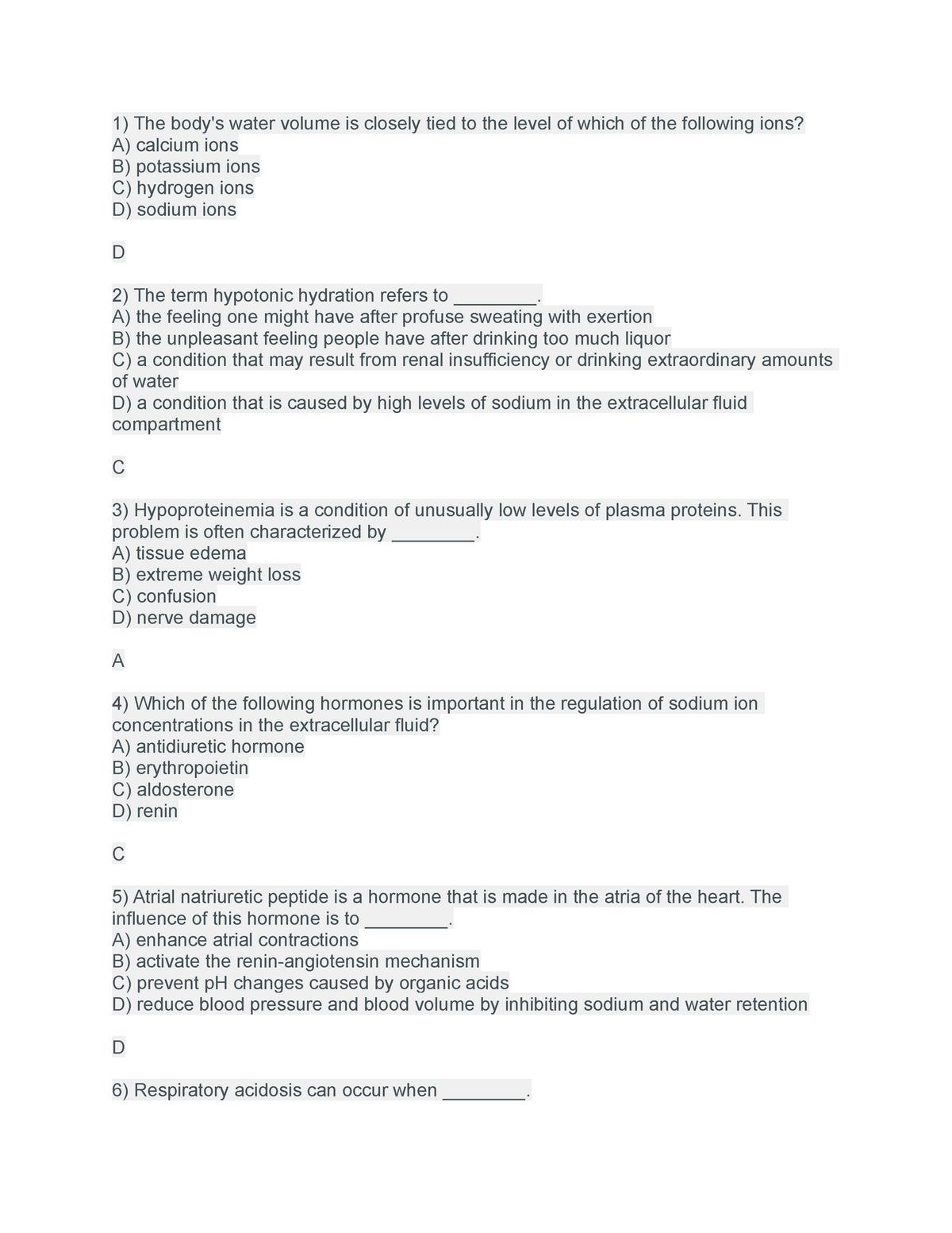 Chapter 26- Fluid, Electrolyte, and Acid-Base Balance - UVM - StuDocu