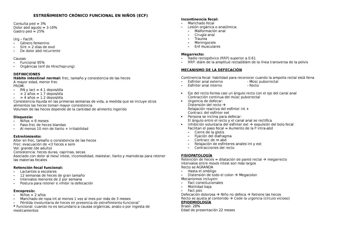 Estreñimiento_crónico_funcional_pediatría - 2018018 - StuDocu