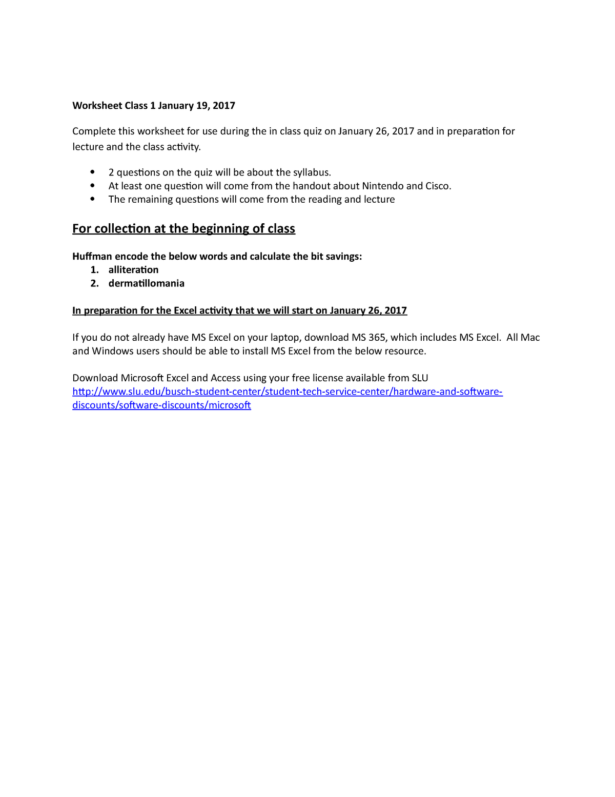 WS 2 - Lecture notes 1 - ITM 200: Intro To Information