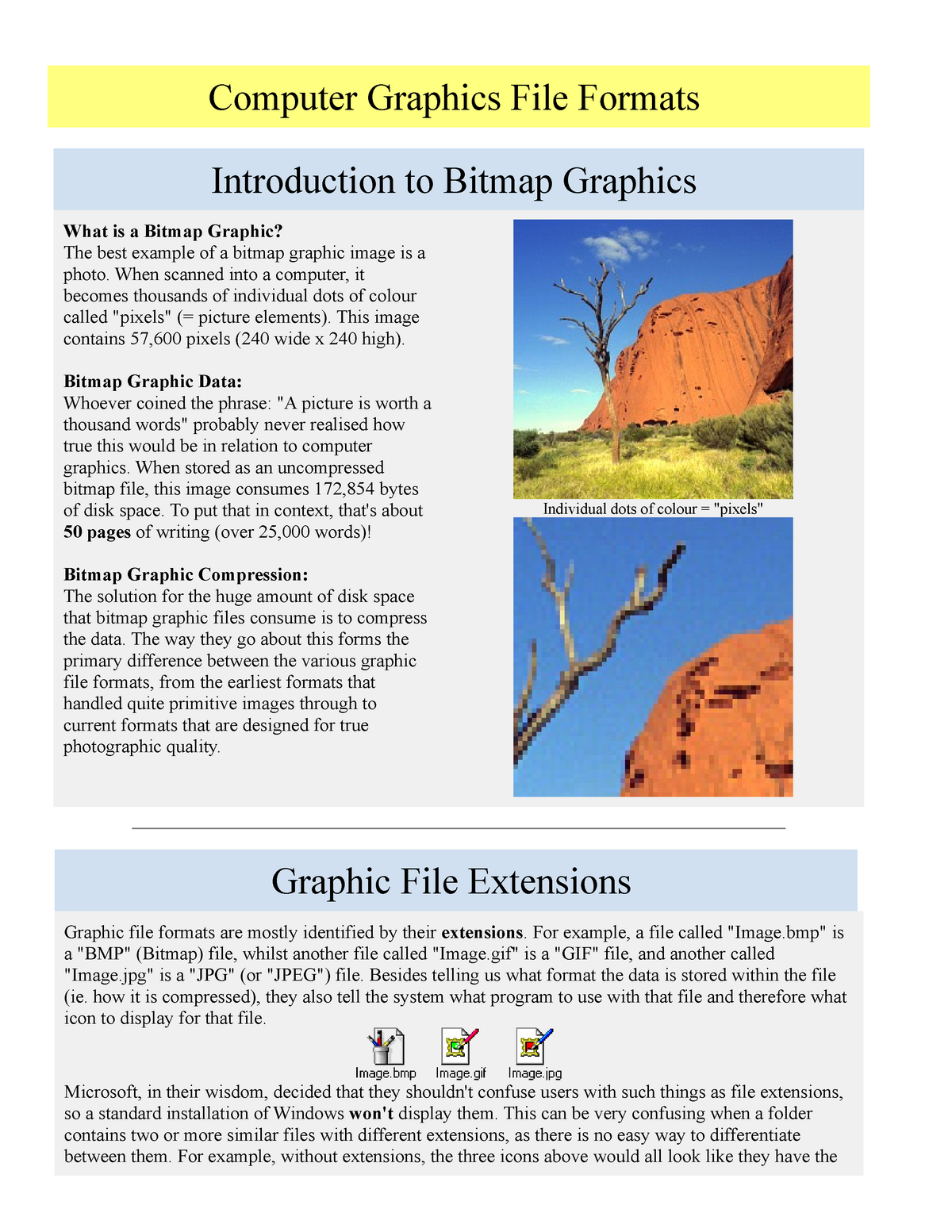 Computer Graphics File Formats - 031284 : Web Services