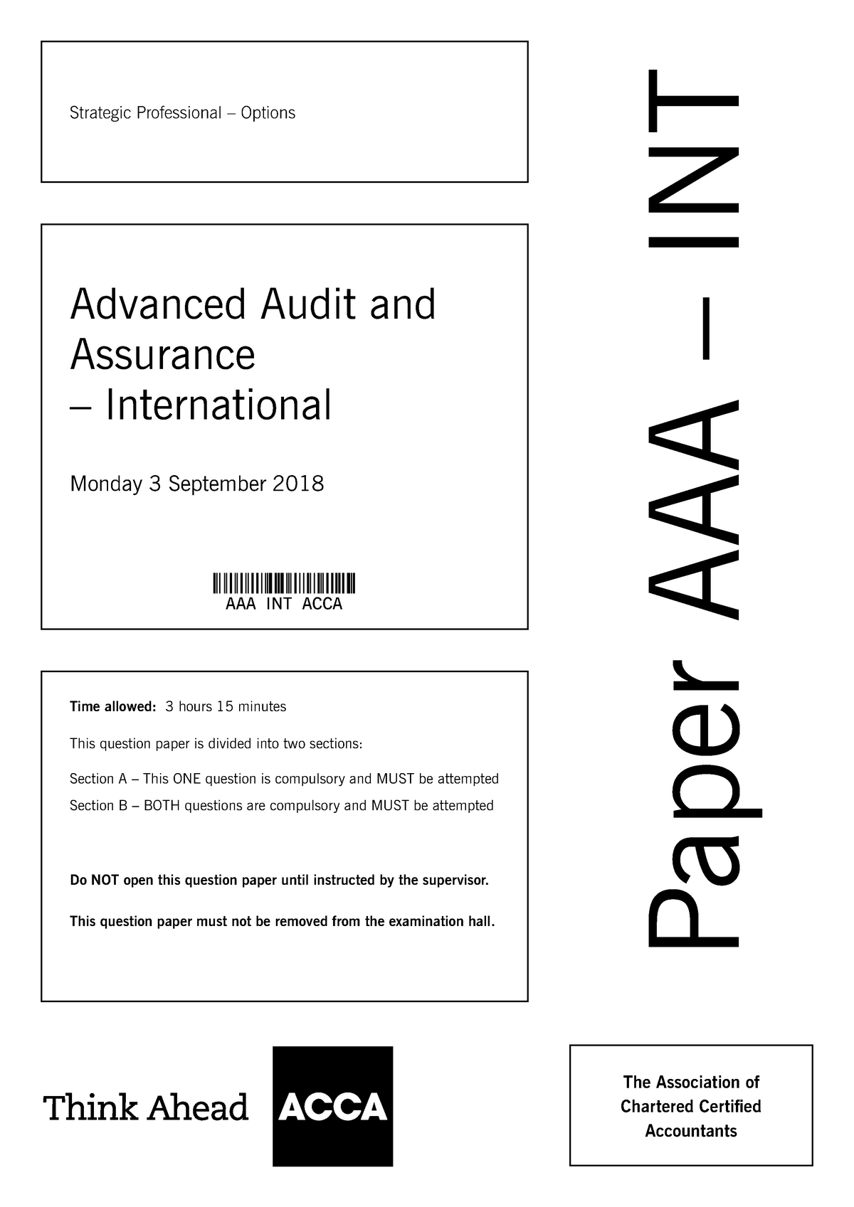 Exam 1 September 2018, questions - Financial Accounting
