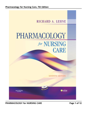 Nursing 8th for pdf care pharmacology edition