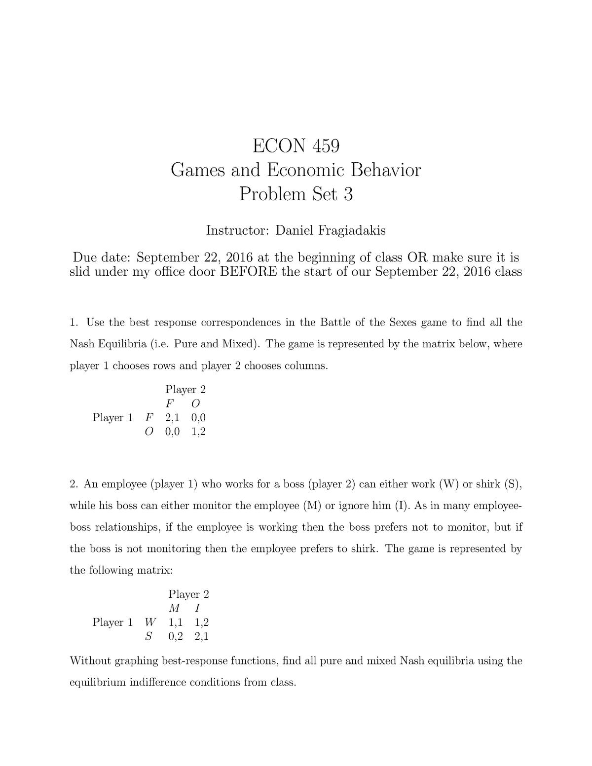 Seminar assignments - Homework 3 - ECON 459 - TAMU - StuDocu