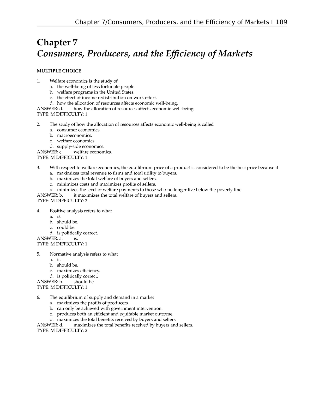 economics questions and answers pdf