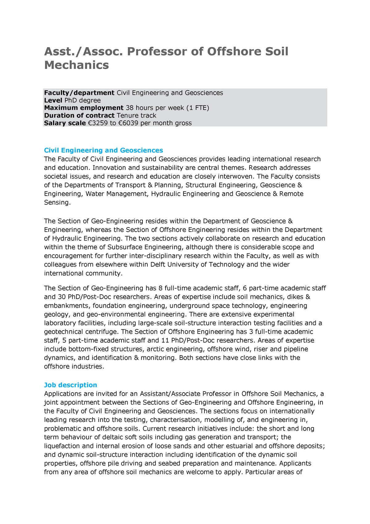 Offshore Soil Mechanics Version 7 - Petroleum engineering