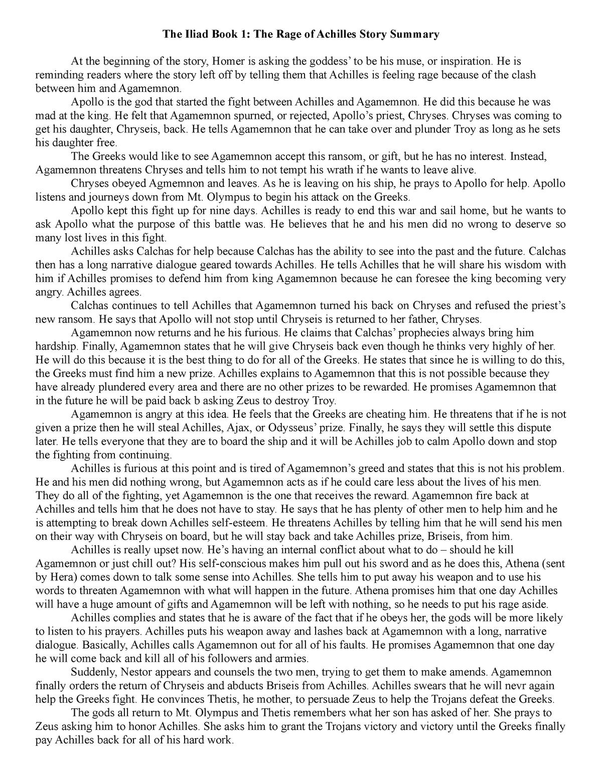 iliad book 3 summary
