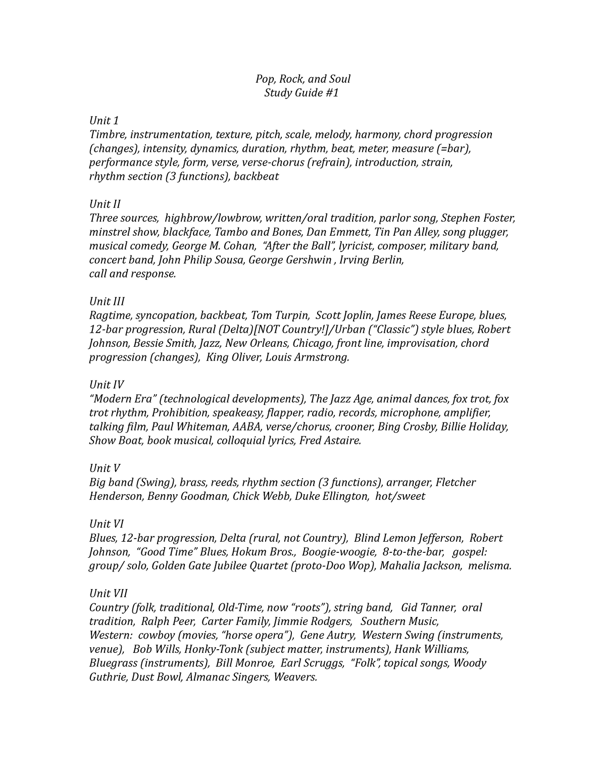 Summary MUS 115 MUS 115 13 Jun 2018 - StuDocu
