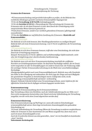 Verw R Vorlesung Zusammenfassung Studocu