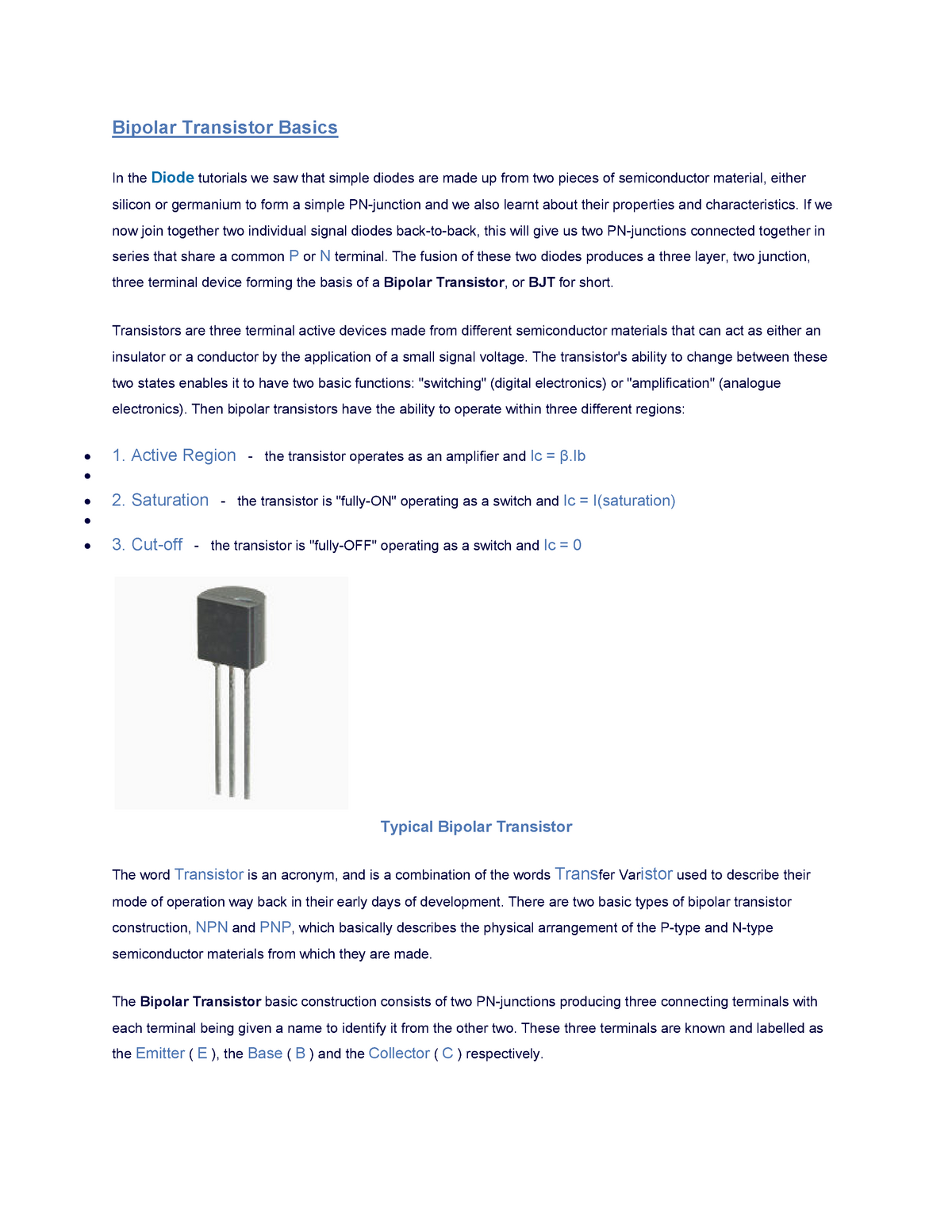 How Does A Transistor Work As A Switch And Amplifier