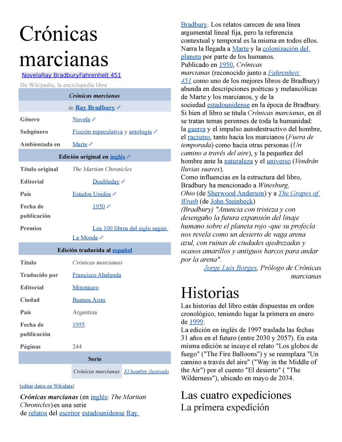 Crónicas Marcianas Análisis Studocu