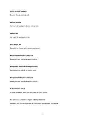 latijnse spreuken recht Nuttige Latijnse spreuken   B001308: Basisbegrippen van recht  latijnse spreuken recht