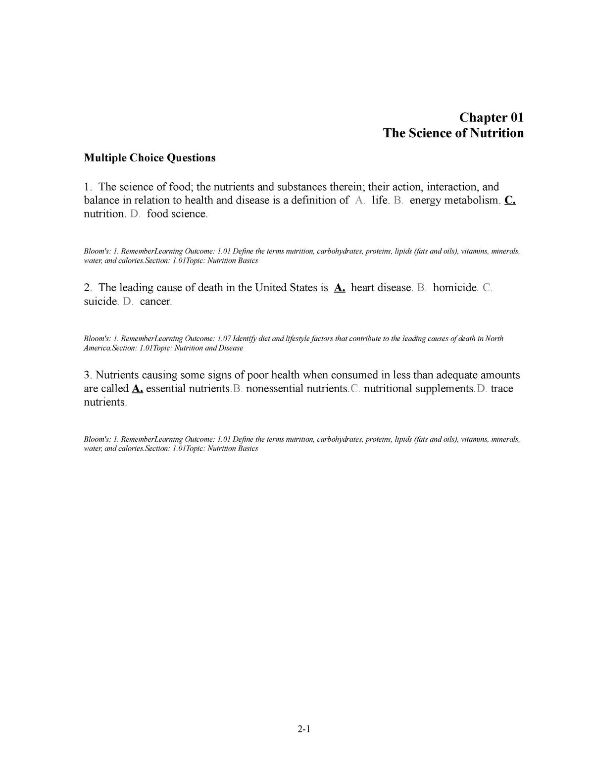 Exam 1 Aaaaa Life 120 Fundamentals Of Biology I Studocu