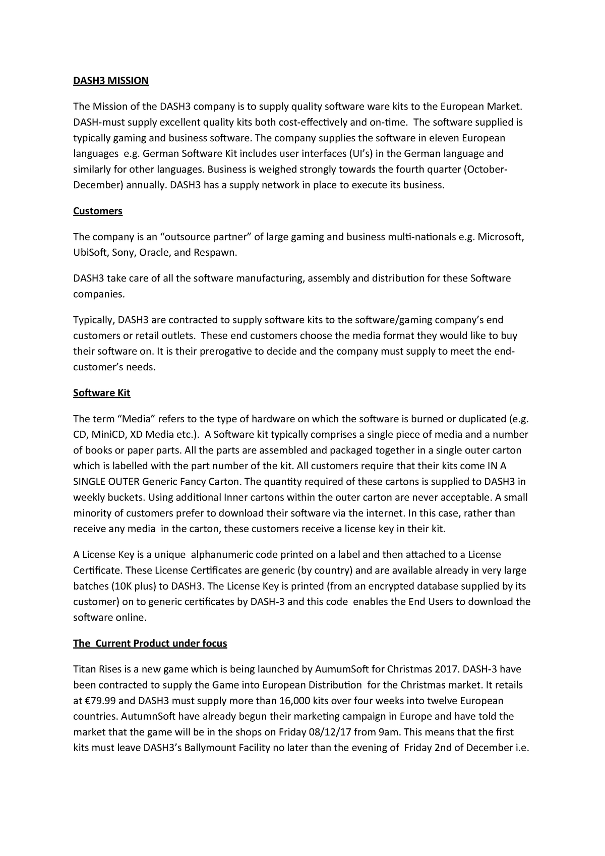 Assignment 2 DASH 3 - MMAN3103: Manufacturing Management - StuDocu