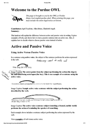 lecture notes, lecture 5-7 - active and passive - engels