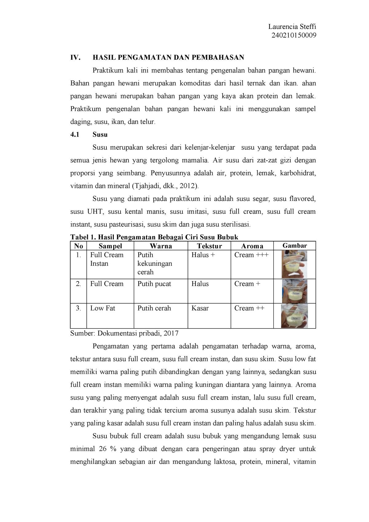 Laprak Kbp2 Pengenalan Bahan Pangan Pangan Hewani Studocu