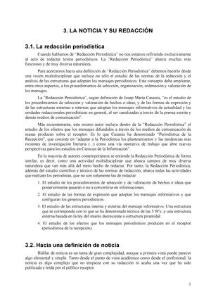 Tema 3 Apuntes 3 Redacción Informativa En Prensa Upv