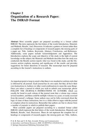 Imrad Framework Psyc 1760 Social Psychology Studocu
