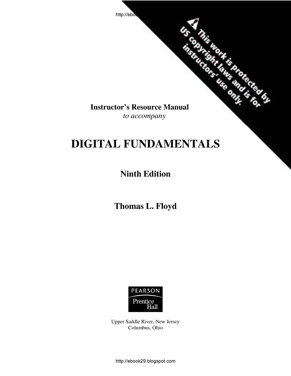 Solutions Manual Digital Fundamentals-Thomas LFloyd - cse114
