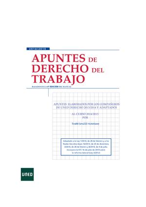 Apuntes completos - Temas 1-15 - 66032042: Derecho del Trabajo ...