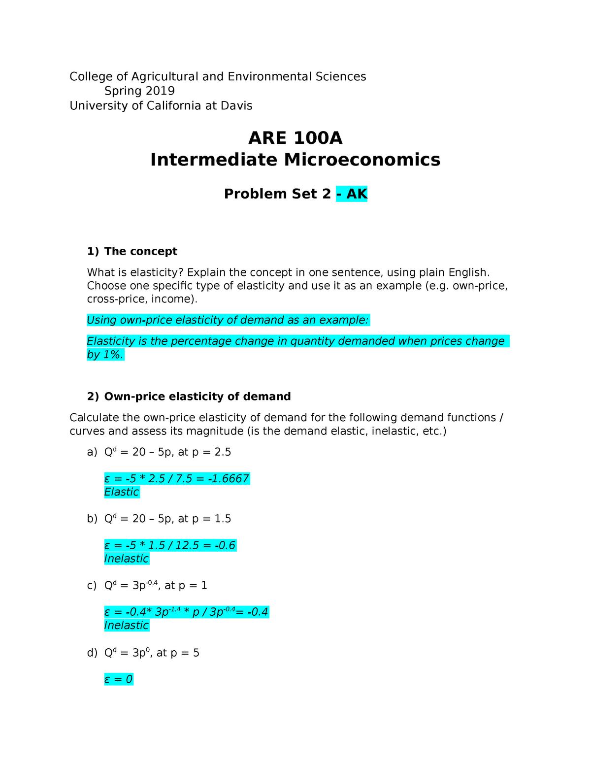 Ps2 Are100a Sq2019 Ak Intermediate Microeconomics Studocu