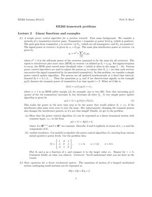 ee263 homework problems