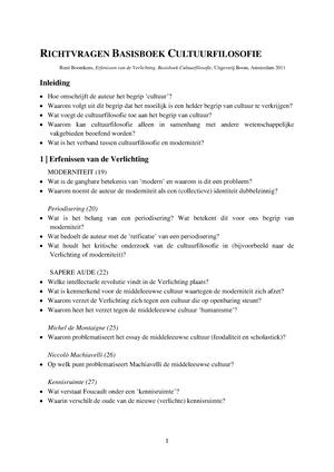 Samenvatting, Basisboek Cultuurfilosofie - Filosofie van de ...
