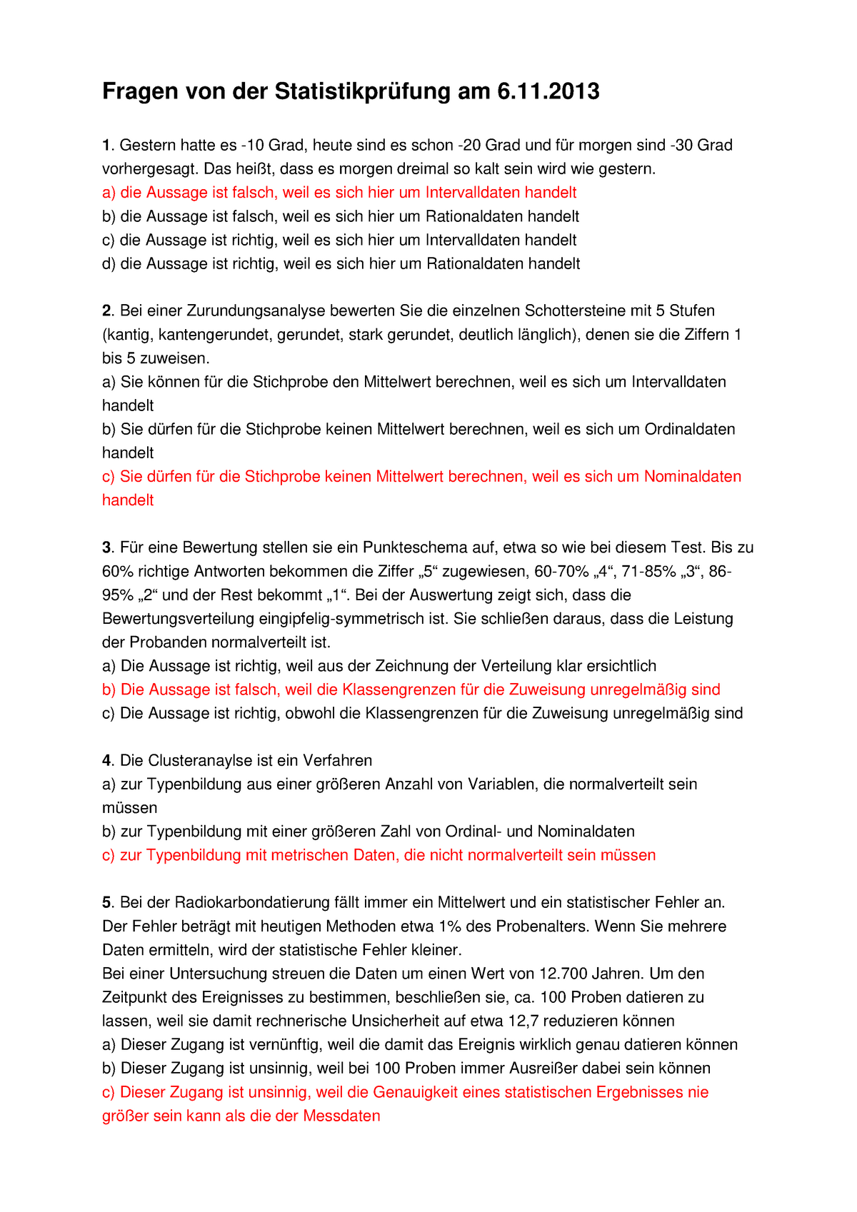 Verwendung von Gleichungen in der Radiokarbondatierung