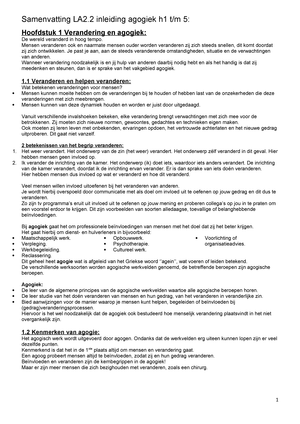 Samenvatting Voor De Verandering 10 Apr 2018 Studeersnelnl