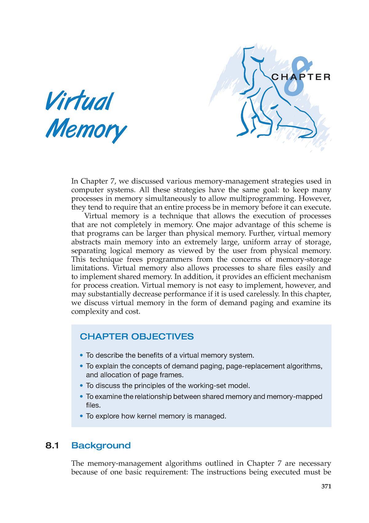 Chapter 08 - Virtual Memory - COMP3301: Operating Systems