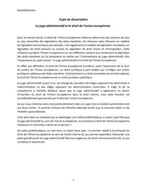 dissertation le juge administratif et la primauté du droit international