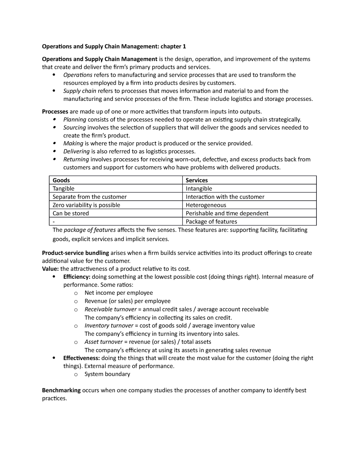 Operations and Supply Chain Management summary (Automatisch