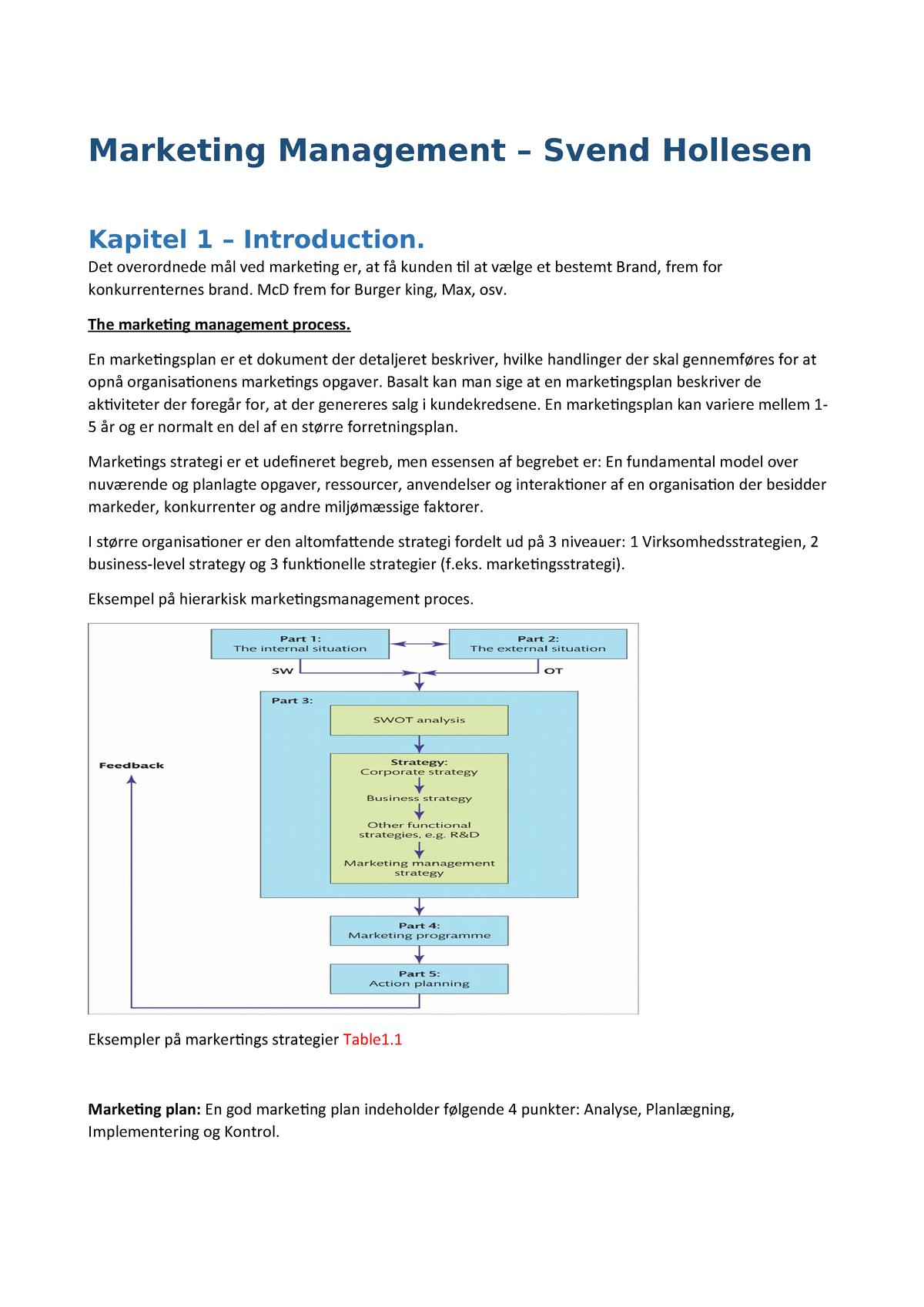 70e36f67 Noter til hele hollesen pensum - Organisation - StuDocu