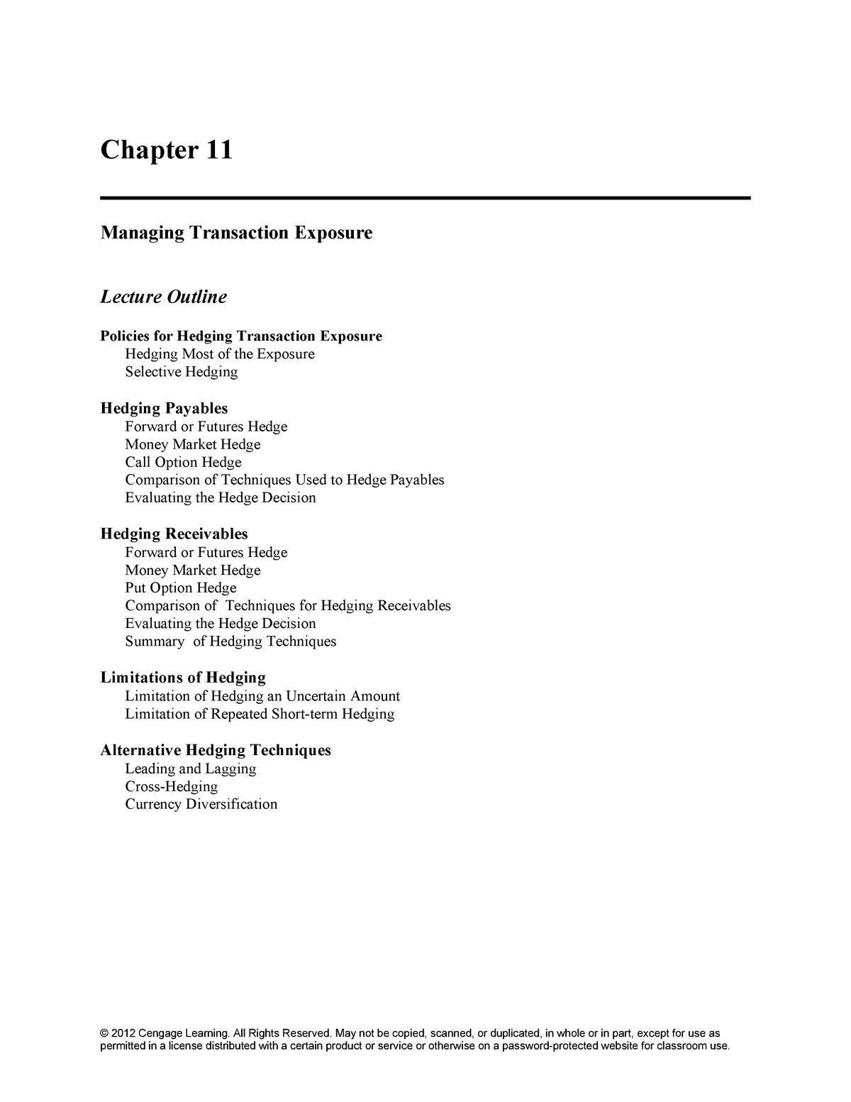 IFM11e IM ch11 - Solution manual International Corporate