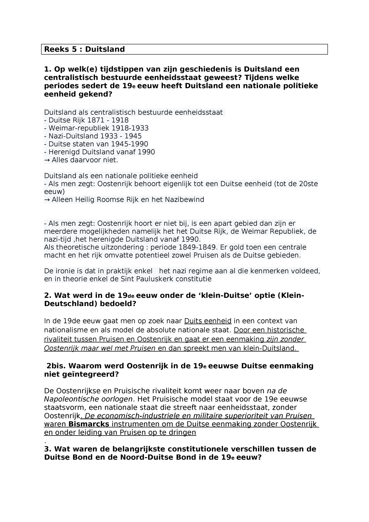 A Duitsland Samenvatting Deel Duitsland C01b0a Studocu