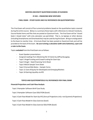 FE 455 Final Exam Study Guide and File References - StuDocu
