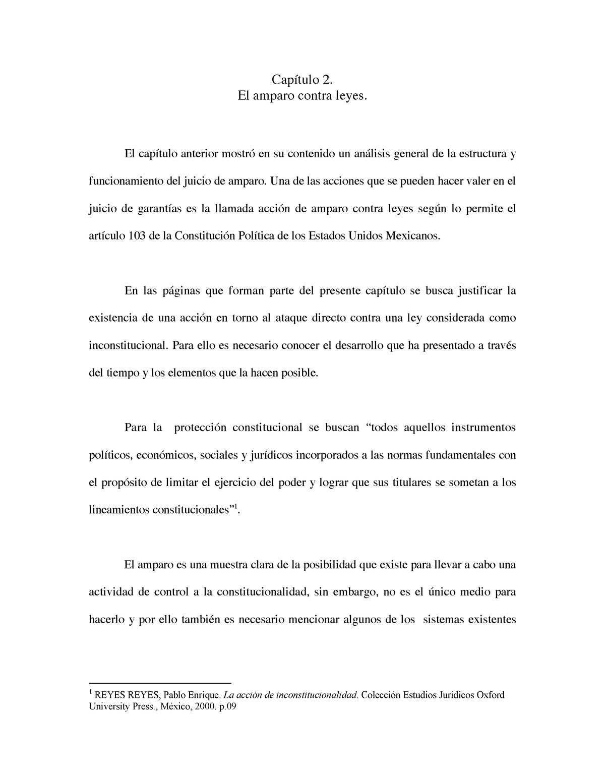 Capitulo 2 Amparo Contra Leyes Derecho Económico Der1414