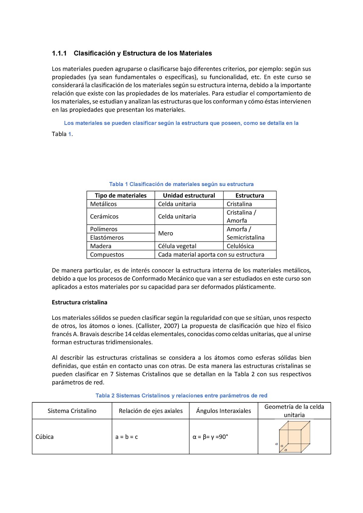 Clasificación Y Estructura De Los Materiales Epn Studocu