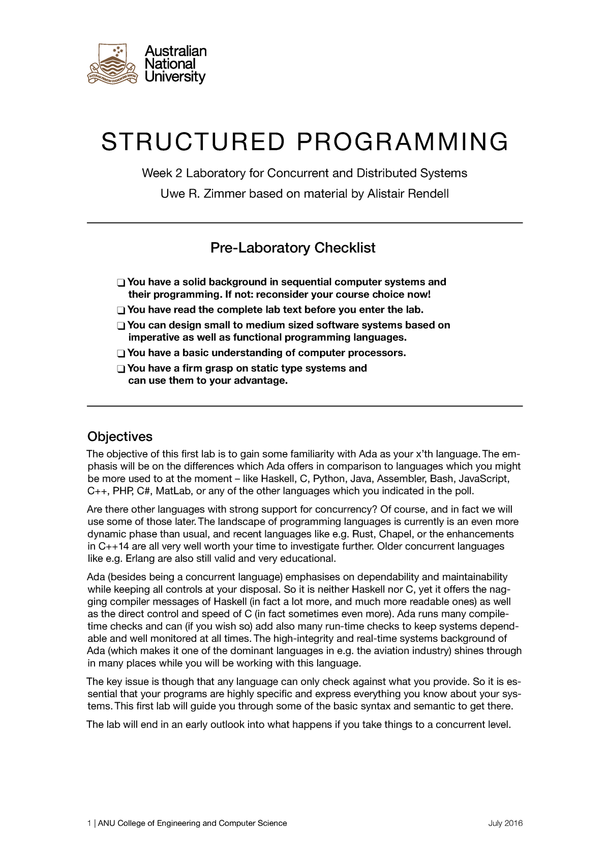 Lab 02-7 - COMP2310: Concurrent and Distributed Systems