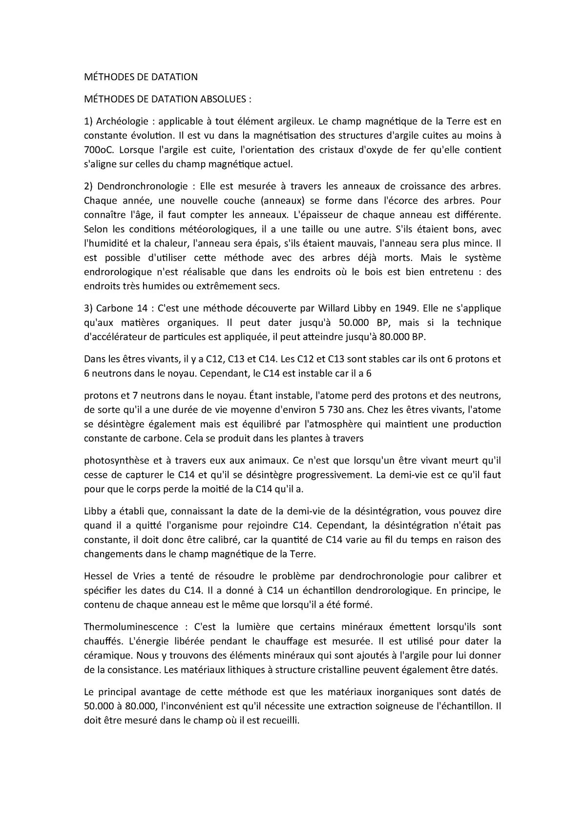 Techniques de datation en archéologie PPT