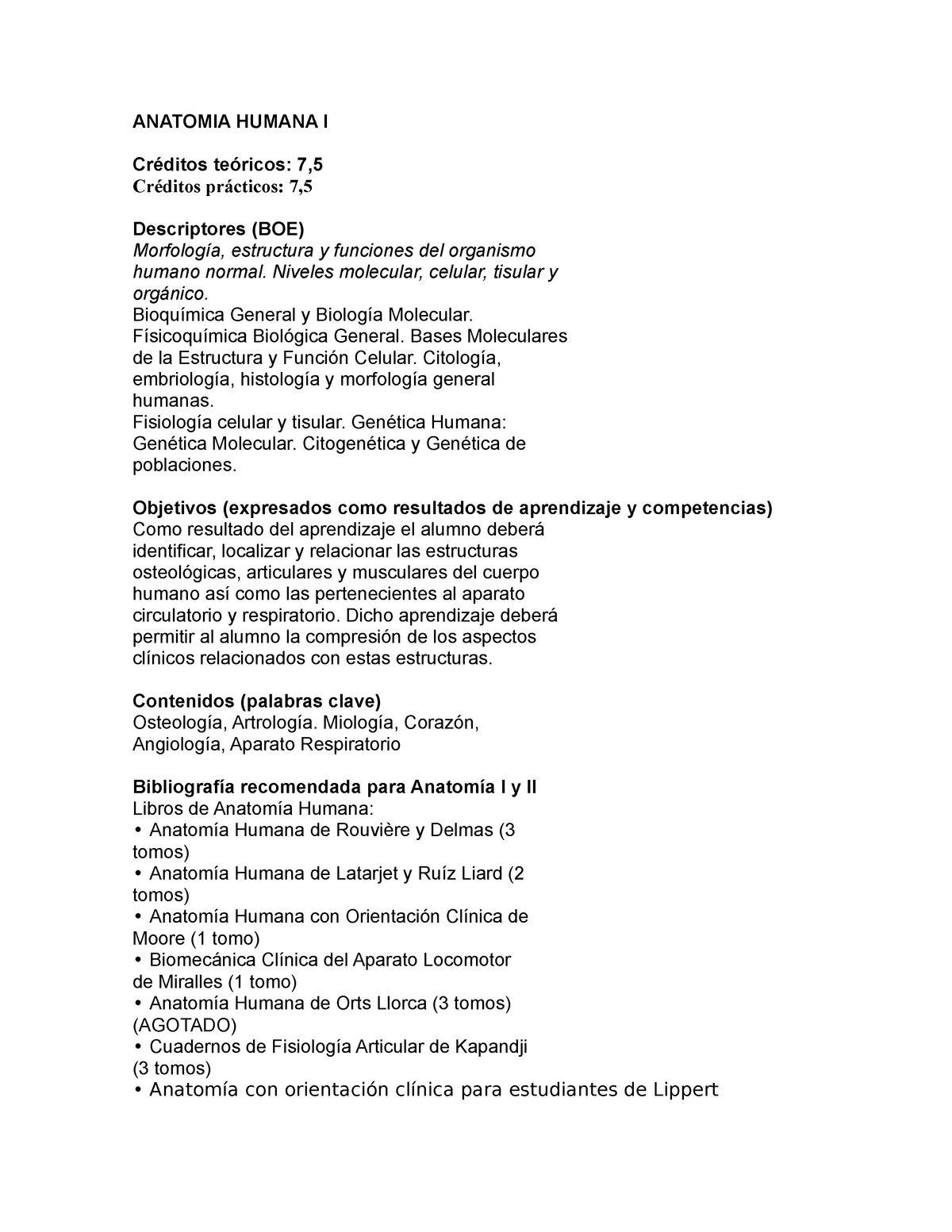 Guia Anatomia Humana I 09 10 Ana2131 Upp Studocu