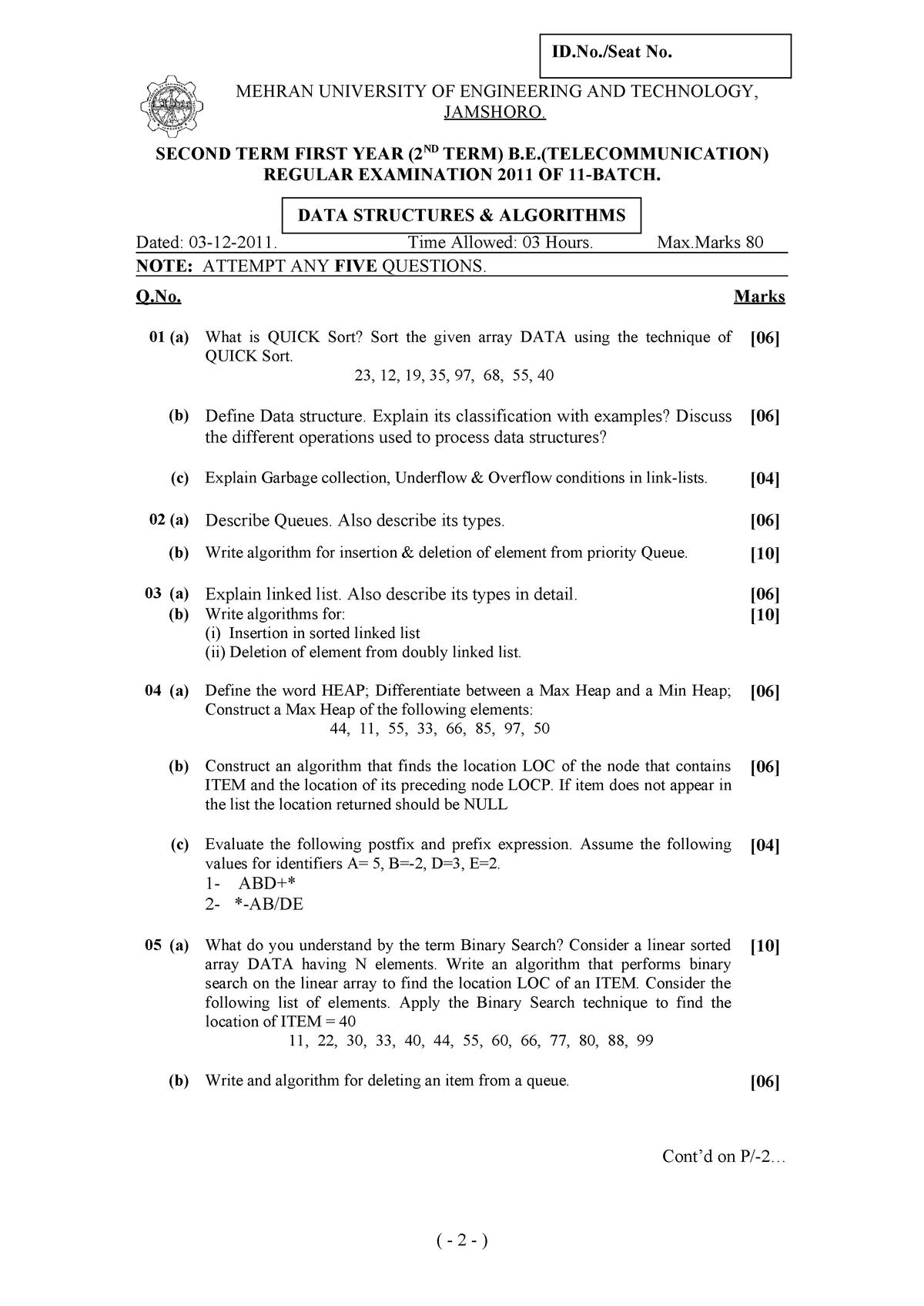 03-12 Data Structure & Algorithms (TL) - TL: Telecommunication