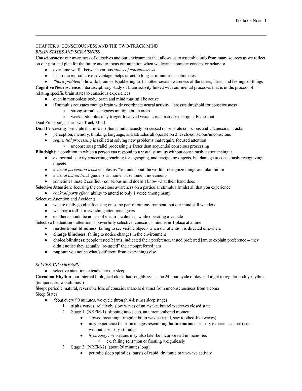 Exam 2 - Summary Psychology - PSYC 111 - StuDocu