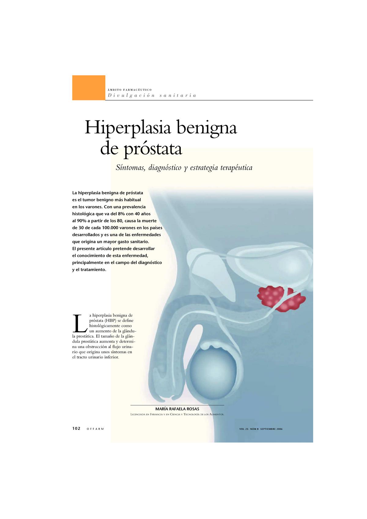 cual es el parámetro correcto de la próstata psal